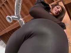Sweet and sexy Mischa Brooks parades her ass