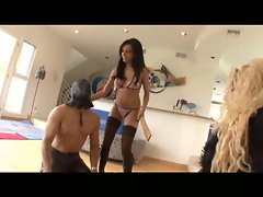 Gina Lynn shared her dominatrix role with Lela Star on a helpless slave
