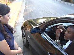 Little slut Lana Violet gets violated by a huge cock wielding black man