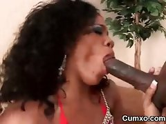 Afro Slut Fucked In Cunt And Ass Licked