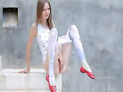 smart peening of super skinny girl