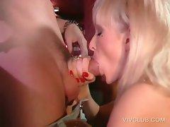 Hardcore sex in public with busty stripper