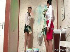 WAM lesbian scene with dirty hookers