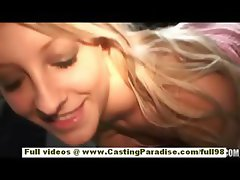Jayla Diamond amateur blonde teen girl does blowjob in a public place