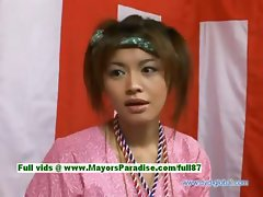 Yuzuru Japanese innocent asian beauty is talking about sex