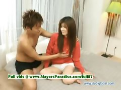 Yuzuru innocent lovely japanese girl gets pussy fingered and licked by her loverboy