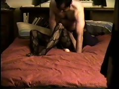 Shy slutty wife screwing on another hidden camera home video