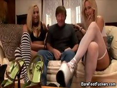 Foot Teasing With Two Ladies
