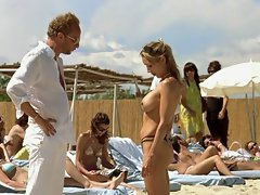 Terrific body at the Topless beach - movie episode