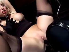 Blondie mistress uses slave for bum enjoyment