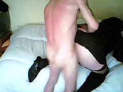 TV receives butthole cream pie (spy cam)