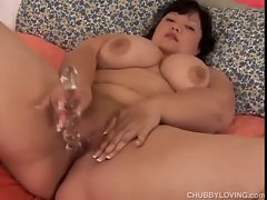 Mega big melons asian Thick amateur with nice looking hooters plays with