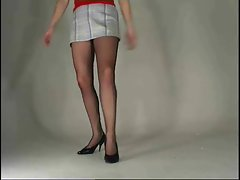 Dancing girl pantyhose upskirt