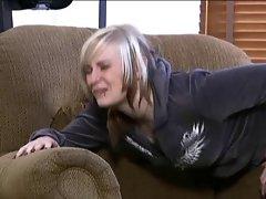 blonde brat spanked