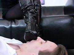 I get my shiny boots licked
