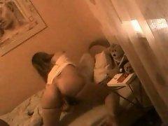 Homemade webcam porn with a slim teen beauty