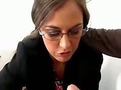 Horny Mrs Simone seduces her student who cumshoots her face