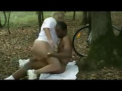 Interracial Creampie during a bike ride