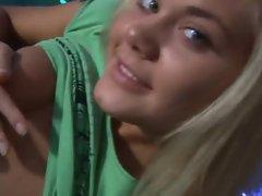 Blonde pornstar casting for a camera