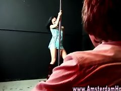 Real amateur euro prostitute lapddances customer