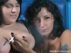 smoking fetish lesbians