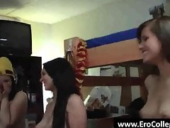 Party college chick show pierced nipples