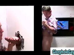 Amateur straight guy gets tricked into blowjob in gloryhole