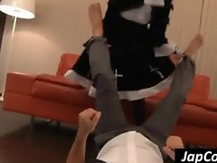Cute Asian maid sit on a guy s face