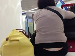 Nice White Thong - Waiting at the airport - Part II