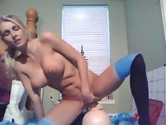 Blonde Cam Babe Dildo Ride