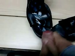 cum on wife shoes 07