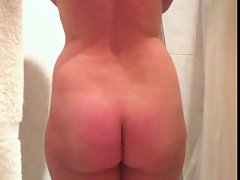spy with hidden cam a sexy naked wife taking a shower