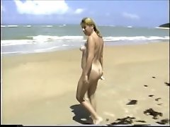 my wife walking nude on the beach