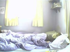 Wakes up and Masturbates on Hidden Cam.