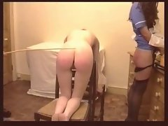 Naughty nurse caning