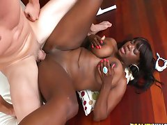 Chubby black girl with HUGE tits