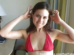 Cute chick teases the cum out