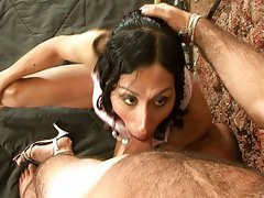 Hard ass fuck tranny is very obedient