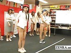 Plastic balls pantyhose weird Japan game