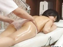 Topless busty Japan schoolgirl massage
