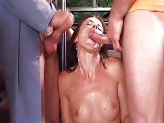 Threesome in the bus with Cecilla Vega