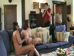 Family affairs as horny dad and son take mom and gf for hot orgy