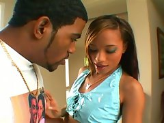 Sexy brunette teen fucked by black dude