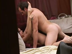 Voyeur fun with hot slut getting her little pussy worked hard