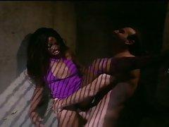 Ebony babe saves naked prisoner in dark cell