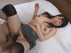 Young asian virgin gets her hairy pussy put into submission.