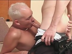 Lewd gay twinks cock sucking and riding fun