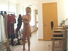 Blonde gets fucked and sucks in office