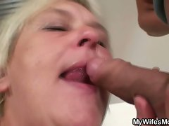 Mature milf gets frisky with son in law