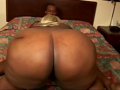 Big black fattie fucked by a skinny dude